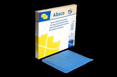 Absco, blaue selbstklebende Kompresse