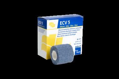 ECV 5 blau, elastische kohäsive Binde