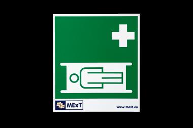 Lang nachleuchtende Erste-Hilfe-Signalschilder - Krankentrage