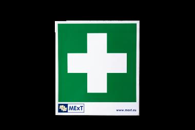 Lang nachleuchtende Erste-Hilfe-Signalschilder - Erste-Hilfe-Kreuz