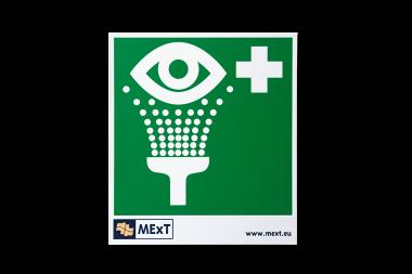 Lang nachleuchtende Erste-Hilfe-Signalschilder - Augendusche