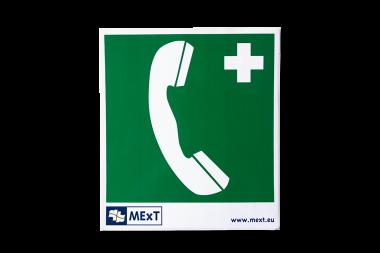 Lang nachleuchtende Erste-Hilfe-Signalschilder - Telefon